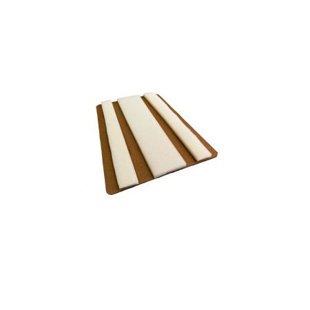 Férula plegable de espuma y cartón, 18 pulg. Largo DMS