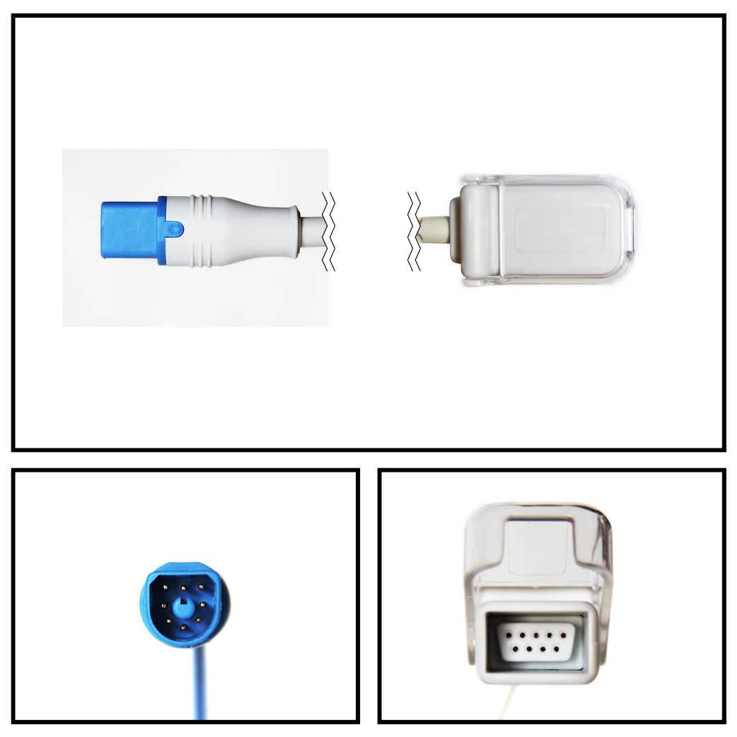 Cable extención philips 8 ft. d-connect a db9 spo2 (m1943a)