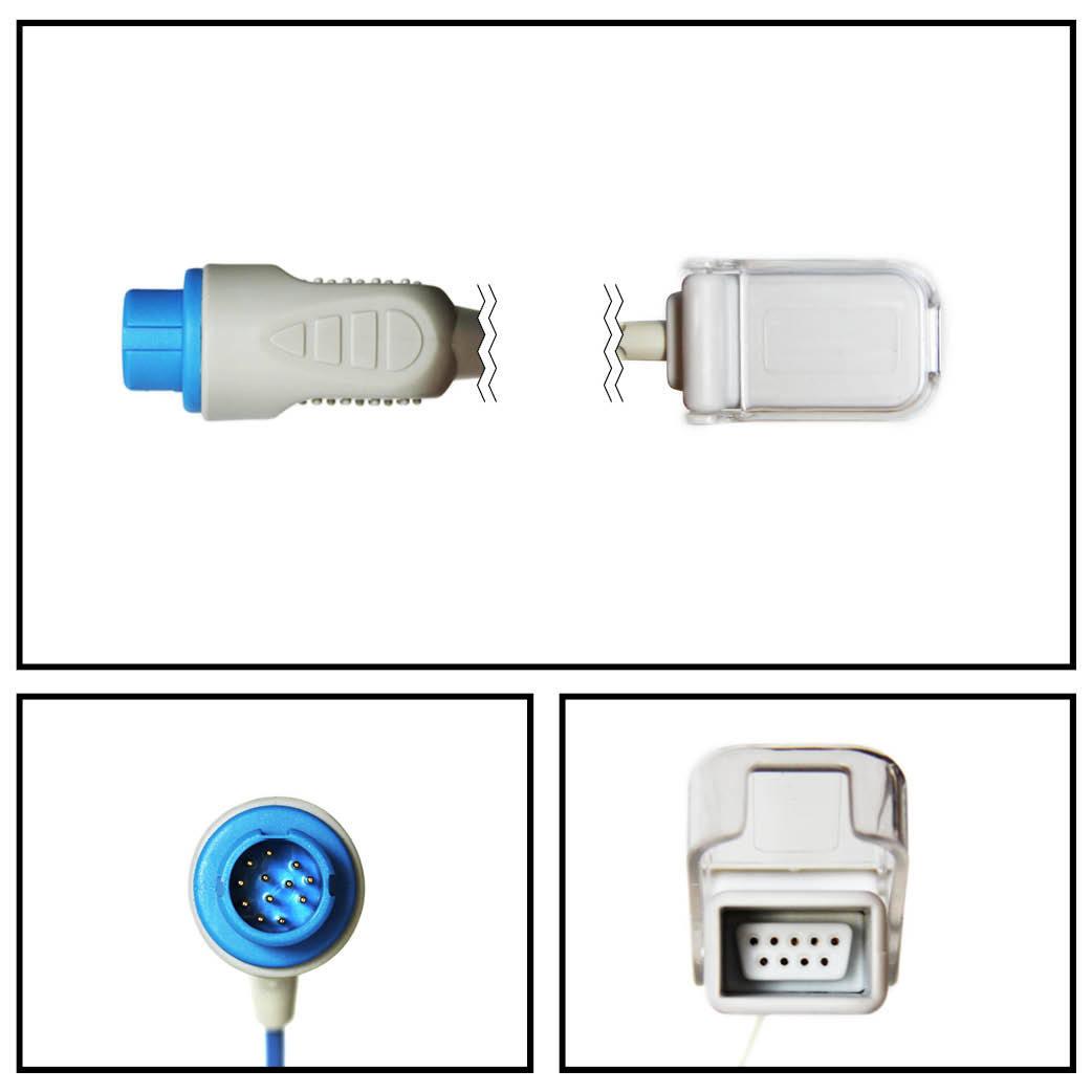 Cable extención philips 12 pin a db9 spo2 (m1900b)