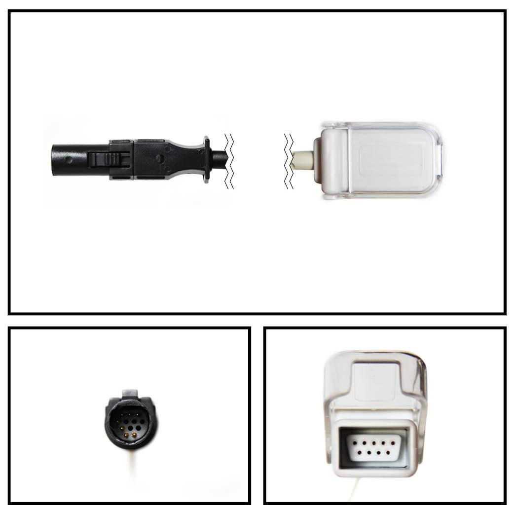Spacelabs novametrix hipertronicos para db9 spo2 extension cable nellcor™