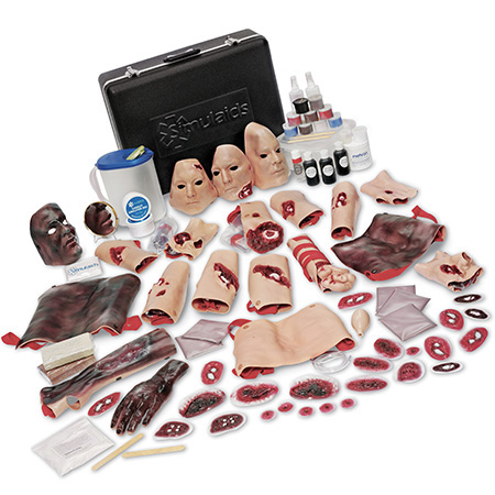 Kit de simulación de heridos EMT con estuche de transporte