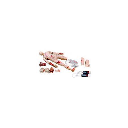 Kit de Trauma Moulage, para usar con Maniquí de RCP / Trauma de cuerpo completo