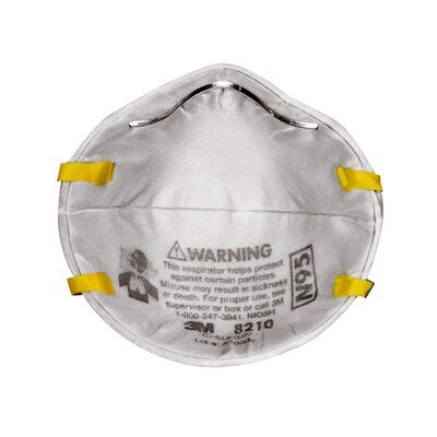Mascara Respirador desechable para partículas N95, 8210