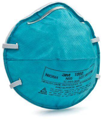 Mascara Respirador desechable para particulas N95  3m 1860