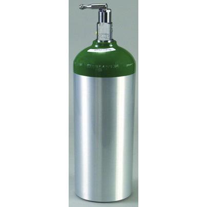 Tanque de cilindro de oxígeno, aluminio, válvula de palanca, tamaño D