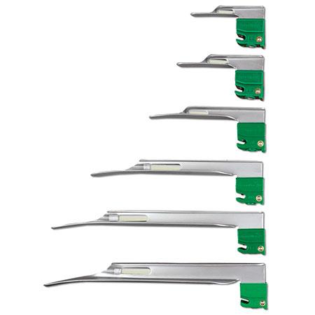 Hojas de laringoscopio, miller Curaplex Select Greenline / D F / O
