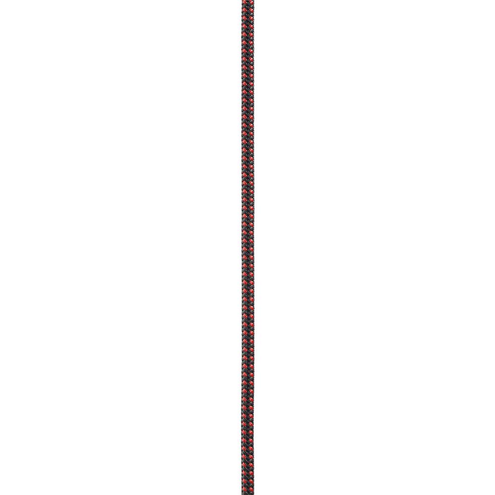 Carrete de cuerda semi-estática 4mm x 120m, Rojo/Negro Petzl R44AR 120