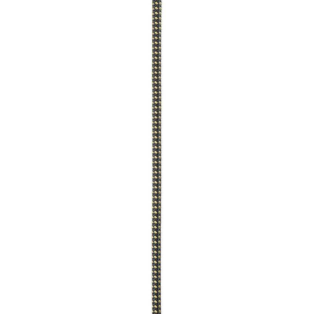 Carrete de cuerda semiestática de 5mm x 120m, amarillo/negro Petzl R45AY 120