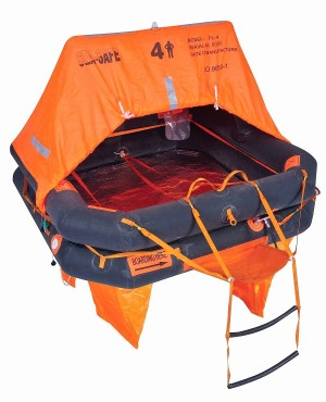 BALSA SALVAVIDAS OFFSHORE 4v, 4 PERSONAS SEA-SAFE