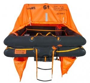 Balsa salvavidas Coastal 4V 6 personas SEA-SAF