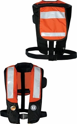 Chaleco Adulto Inflable Hidrostático Mustang Pfd Hi-Vis