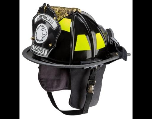 casco de fibra de vidrio, American Legend X Lion, NFPA